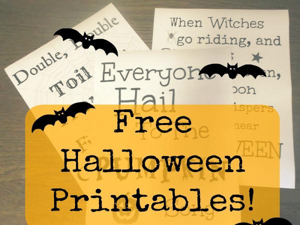 3 Free Halloween Printables!
