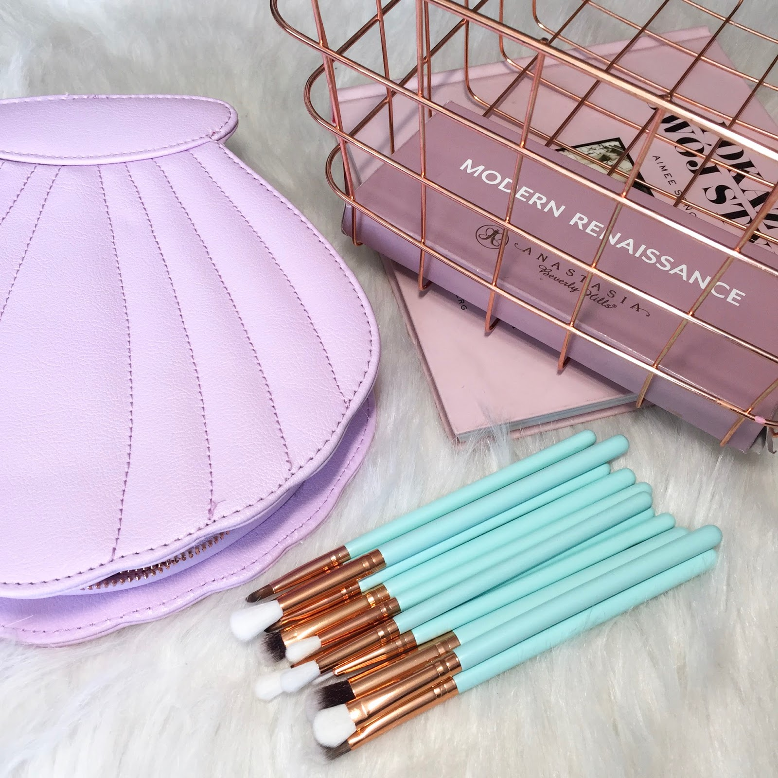 HAUL: MERMAIDS Makeup Brush Bag & Minti brushes. |GAMISS & ROSEGAL +GIVEAWAY!!!