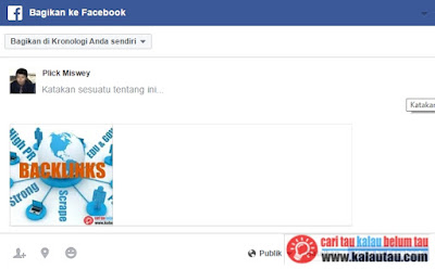 kalautau.com - Deskripsi dan Judul tidak muncul share facebook