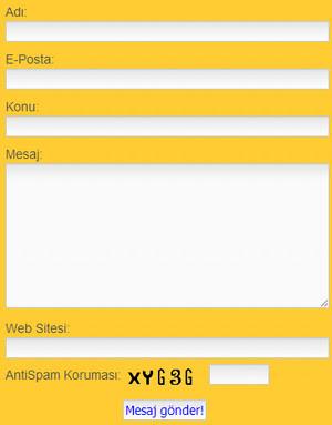 Blogger İletişim Formu
