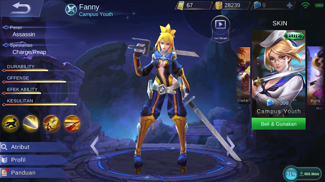 item fanny zxuan, item fanny terbaik, item fanny terbaru