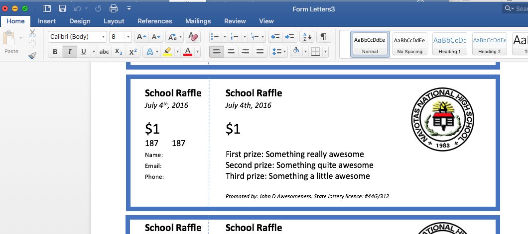 photo relating to Printable Raffle Tickets With Numbers called Raffles and Raffle Tickets: The Solution in the direction of Developing NUMBERED
