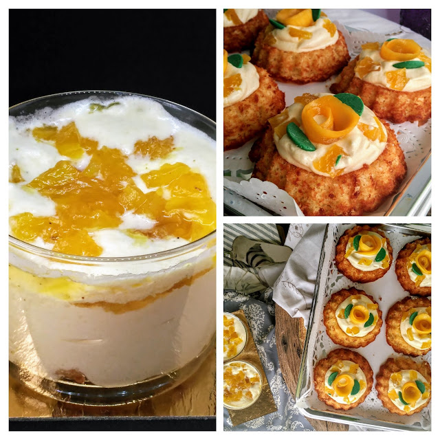 pineapple-mango-cake, candied-pineapple, bizcocho-de-piña mousse-de-mango