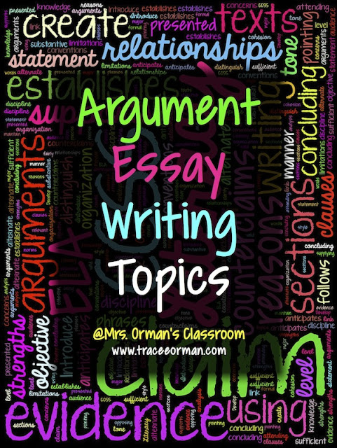 Argument Essay Writing Topics (or Claims)