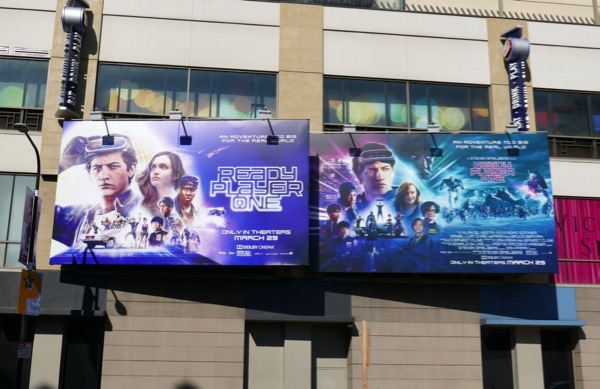 Ready Player One movie billboards