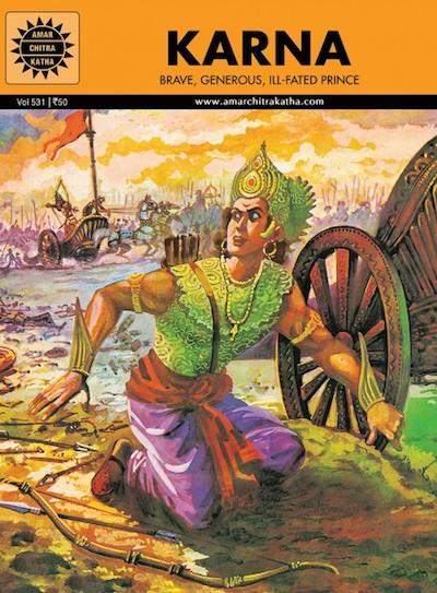 Indian Epics Amar Chitra Katha Guide Karna