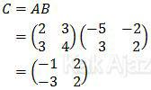 Matriks C = AB, Matematika UN 2017