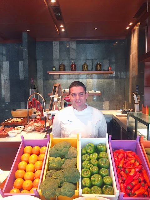 Chef Antonino during the Sicilian Sunday Brunch at Hyatt Regency Chandigarh