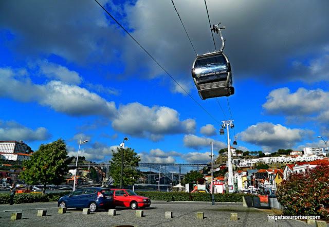 Teleférico em Vila Nova de Gaia, Portugal