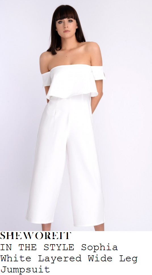 casey-batchelor-in-the-style-sophia-white-layered-off-shoulder-bardot-neckline-wide-leg-cropped-jumpsuit