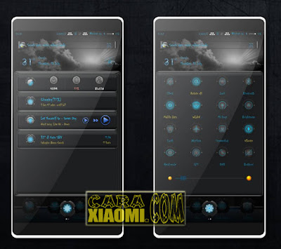 Screenshoot Theme MIUI Black Blues Mod Mtz For Xiaomi By San's Santos