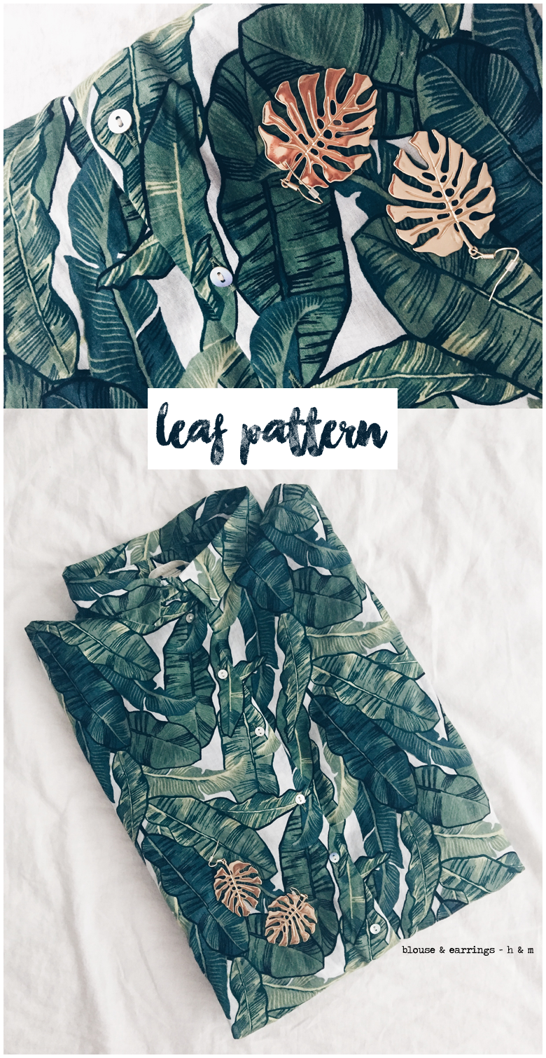 recap, may, 2017, fashion, leaf pattern