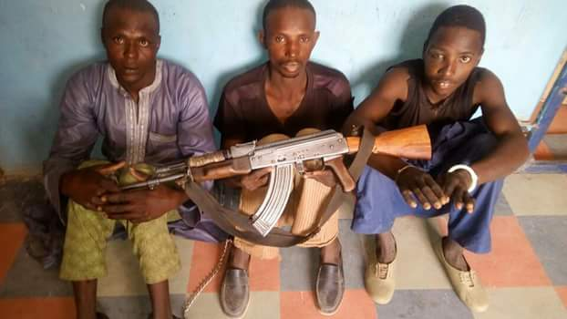 Photo: Police arrest notorious kidnapping and armed robbery syndicate that abducted 8-year-old girl in Katsina State