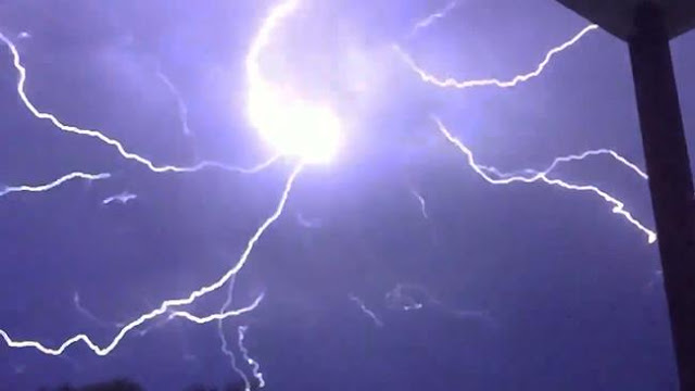A lightning storm over Brisbane, Queensland, Australia lights up the night sky november 24, 2015