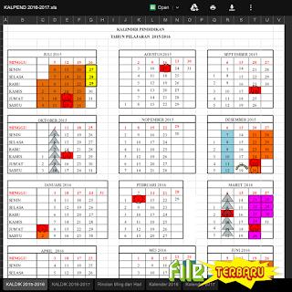Download Kalender Pendidikan (Kaldik) Tahun Pelajaran 2016/2017