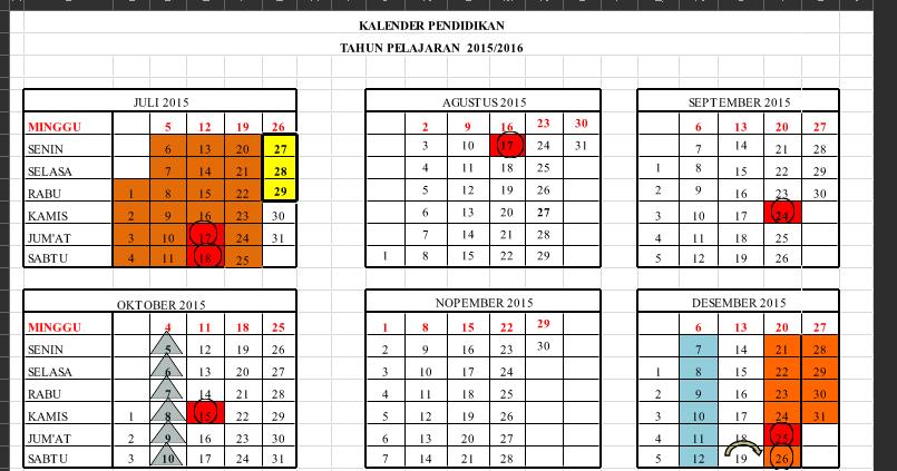 Download Kalender Pendidikan Kaldik Tahun Pelajaran 2016 2017 Padamu Negeri Indonesiaku