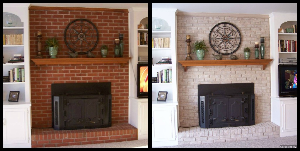 I Painted The Fireplace Brick With An Amazing Matte Finished Paint Kit And It Took Me Less Than A Day Truly Part Is That Doesn T Look