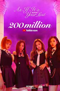 6 Bulan Rilis, MV 'As If It's Your Last' Black Pink Sudah Ditonton 200 Juta Kali