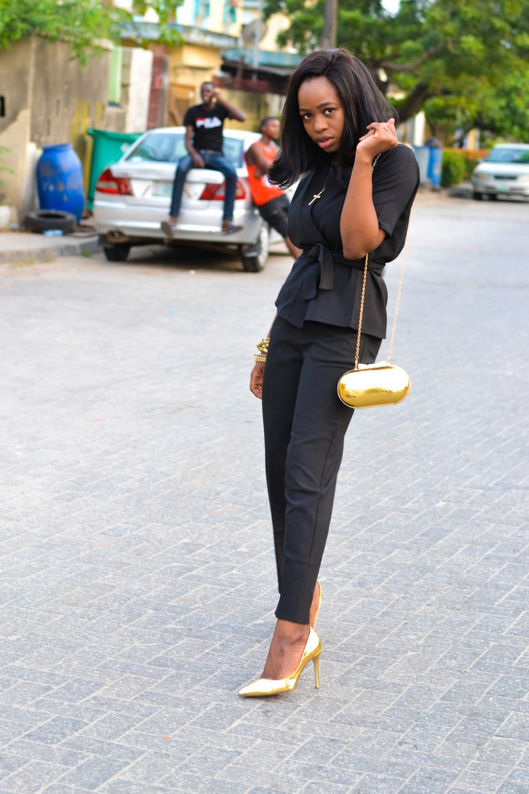 Trendy Black Trouser suit in Lagos