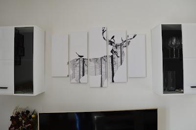 Nástěnný obraz na plátně s jelenem. Tip na výzdobu bytu.