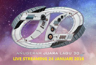 siaran langsung AJL 30 Anugerah Juara Lagu 2016