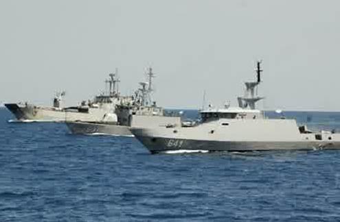 Gambar Kapal Perang KRI Clurit 641 Asli buatan Indonesia