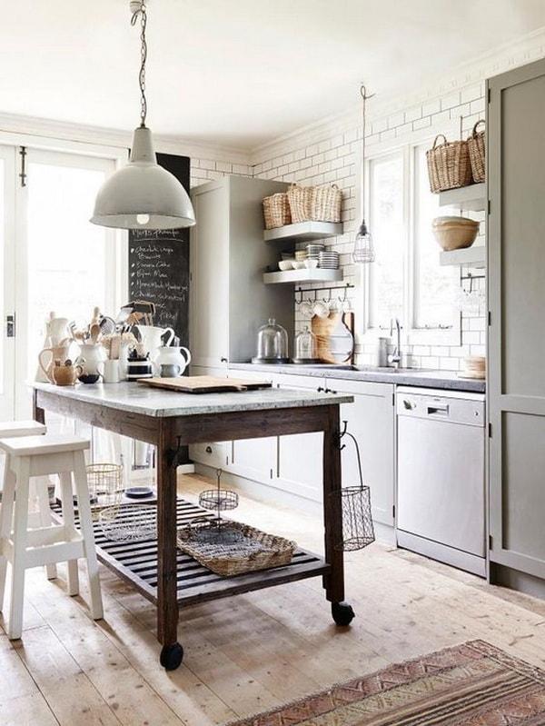 Ανοιχτή κουζίνα με στυλ