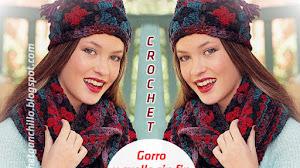 Gorro y cuello sin fin con grannys crochet / paso a paso