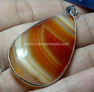 Leontin Batu Chalcedony Motif - ZP 519