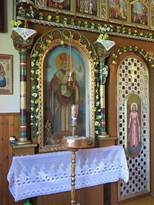 Ikona św. Mikołaja w rzędzie Deesis.