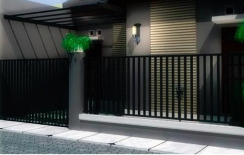 Desain Pagar Rumah Minimalis Sederhana