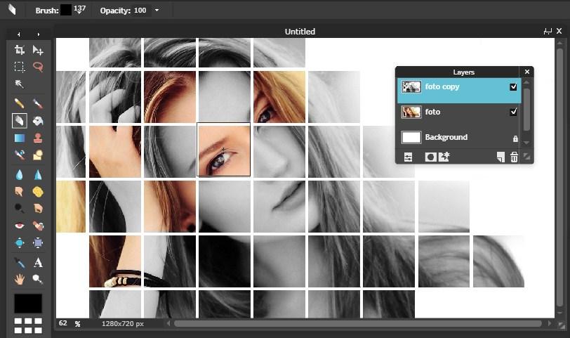 Membuat Bingkai Efek Grid Dengan Editor Online