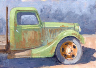 painting art truck old abandoned green rust rusty Ford