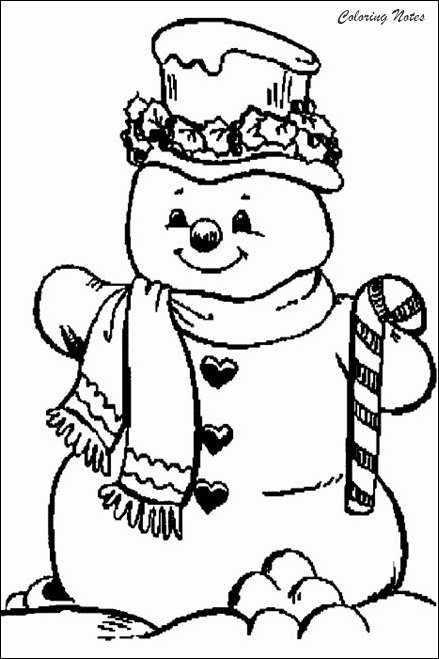 20 Cute Snowman Coloring Pages for Kids Easy, Free and ...