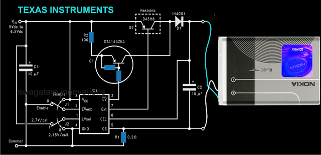 Current Controlled Li-Ion Battery Charger Circuit