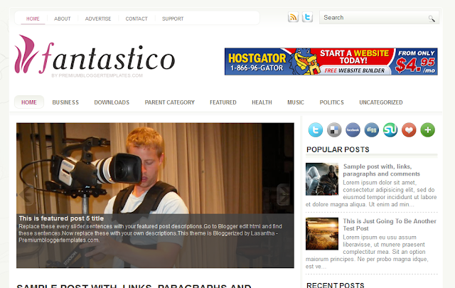 Fantastico Blogger Template