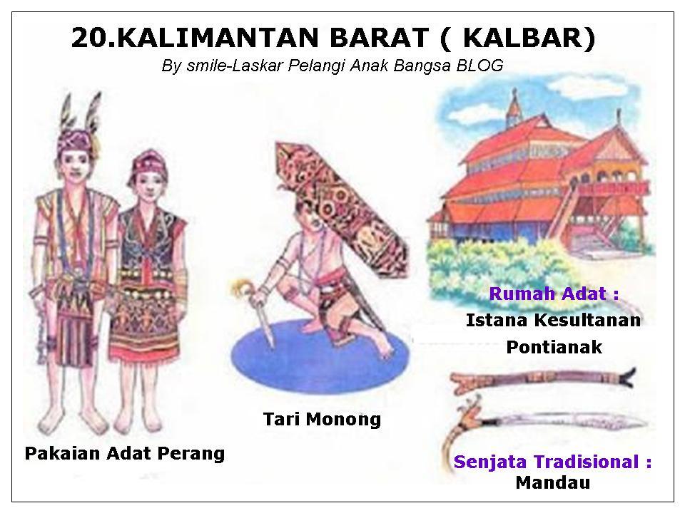 Laskar Pelangi Anak Bangsa 34 Provinsi Di Indonesia Lengkap Dengan Pakaian Tarian Rumah Adat Senjata Tradisional Suku Bahasa Daerah Peta Dan Gambar