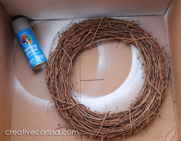 how to paint a wreath