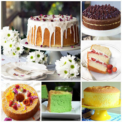 chiffon cake recipe roundup vanilla rose strawberries chocolate salted caramel pandon lemon orange