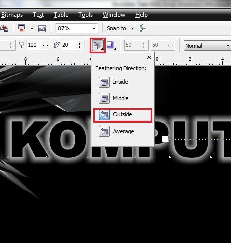 Tutorial make Invisible Text With Drop Shadow dengan corel draw - PONDOK TUTORIAL MULTIMEDIA