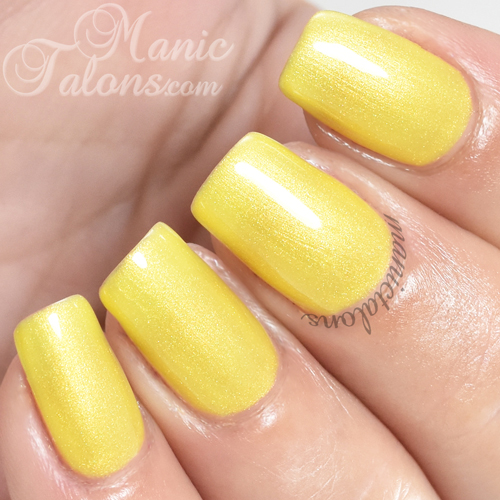 Madam Glam Gel Polish Shimmer Sunny Yellow Swatch
