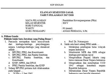 Download Soal Ulangan Semester Ganjil Mapel Pkn Kelas Xii Ktsp Gurungeblog