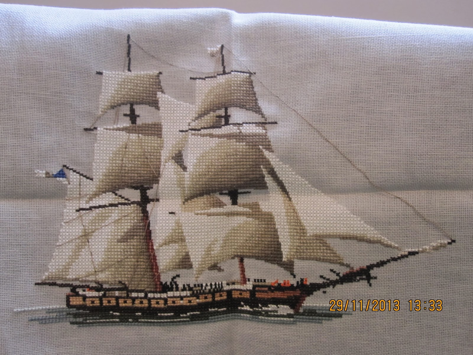 Justine S Cross Stitch The Ship Is Sinking
