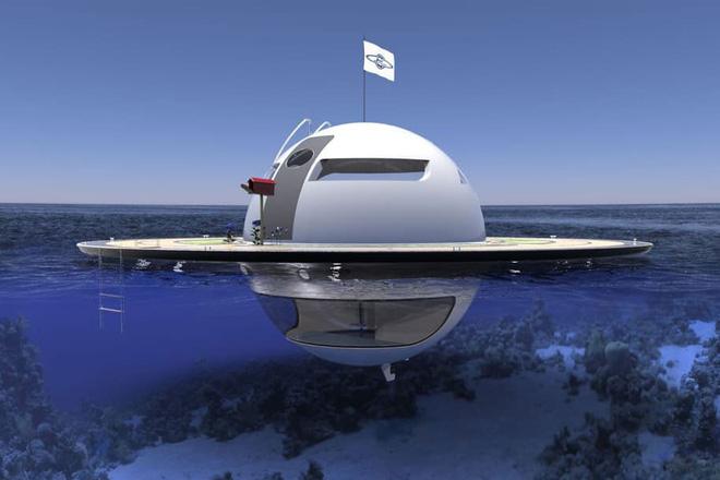 """Kinh ngạc với dự án nhà ở UFO """"nửa chìm nửa nổi"""""""