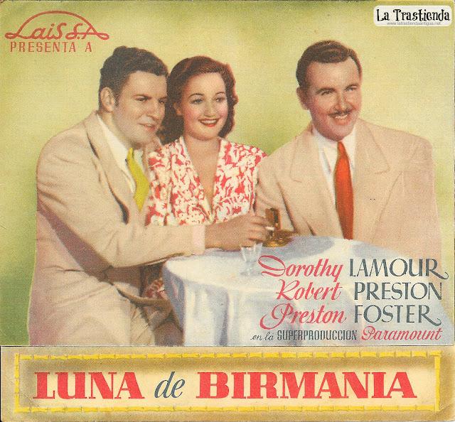 Luna de Birmania - Programa de Mano - Dorothy Lamour - Robert Preston