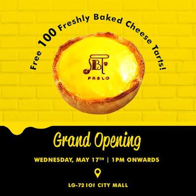 Free Pablo Cheesetart Malaysia Grand Opening Promo