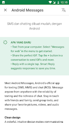 cara menggunakan fitur android messages for web