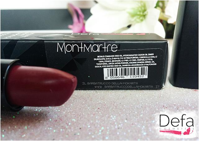 montmartre inci Defa cosmetics lipstick