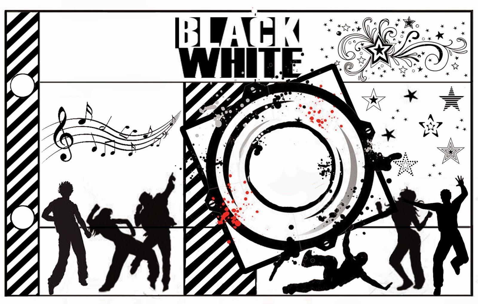 Album de Fotos para Imprimir Gratis de Fiestas en Blanco y Negro.