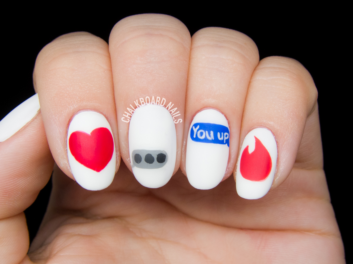 Modern Romance nail art by @chalkboardnails